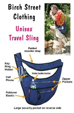 Unisex Travel Sling Pattern or Kit