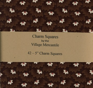 42 5 Charm Squares from the Village Mercantile Civil War Collections