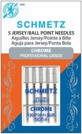 Schmetz Chrome Jersey Needle 5 ct, Size 90/14 # 4026