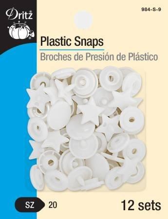 (NEW ARRIVAL) Snaps Plastic White Star