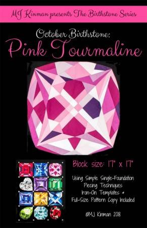 October Birthstone Pink Tourmaline - Birthstone Series # MJK-110