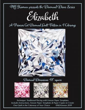 Elizabeth Princess Cut Diamond Quilt Pattern # MJK-114
