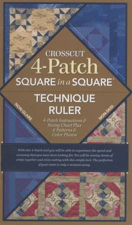 (NEW ARRIVAL) Crosscut 4 Patch Ruler with Book