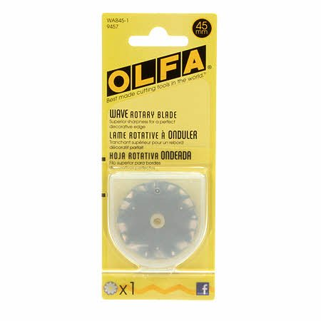 OLFA 45mm Rotary Cutter Blade Wavy # WAB451