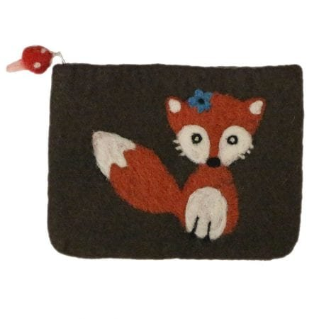 Frabjous Fibers Foxy Felted Notion Bag