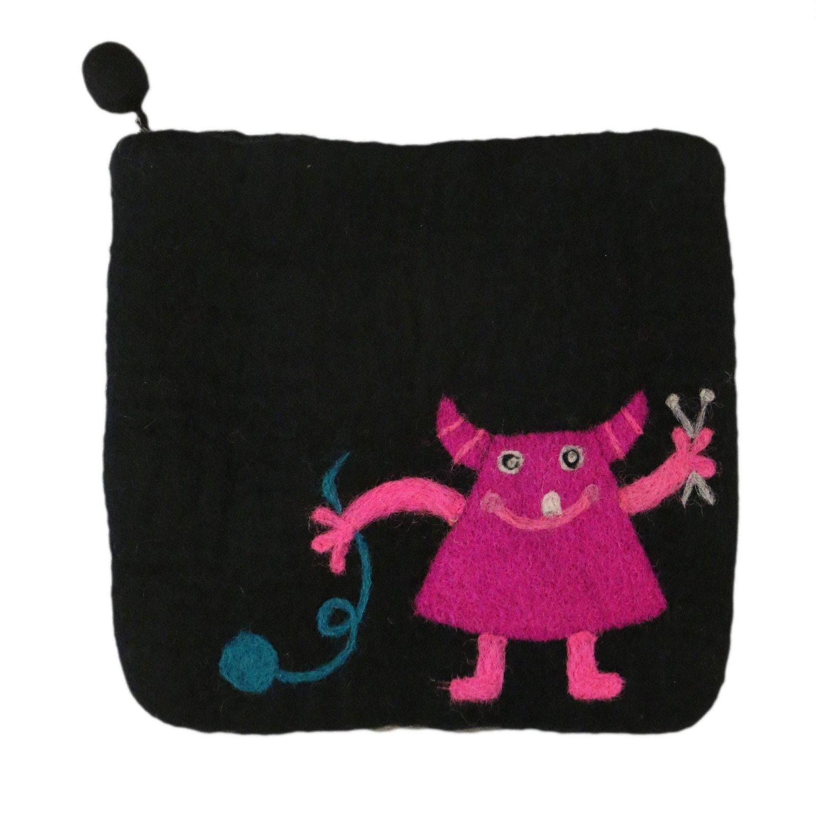 Frabjous Fibers Baby Knitting Fiend Felted Bag