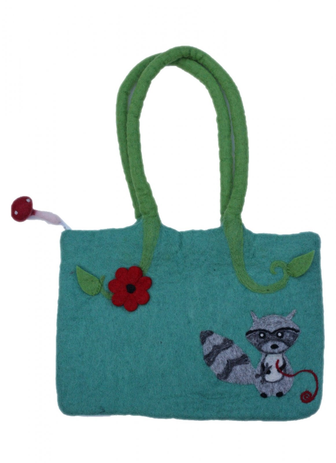 Frabjous Fibers Woodland Creatures Felted Knitting Bag