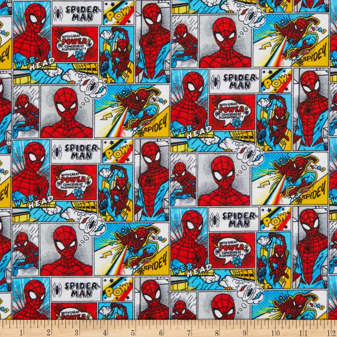 Camelot Spider-Man Comic Strips Flannel