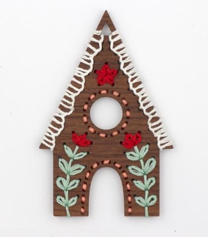 Kiriki D.I.Y. Stitched Ornament Kit - Gingerbread House