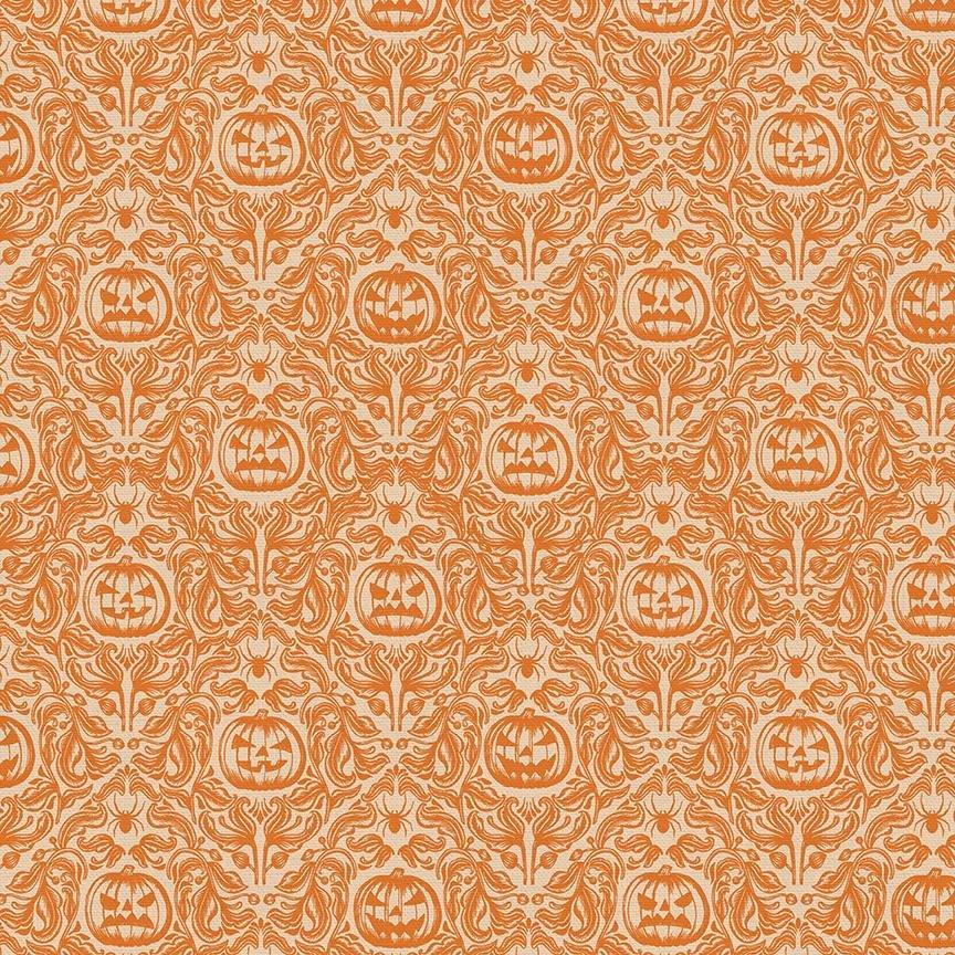 Paintbrush Studio Mystical Halloween - Pumpkin Floral in Orange
