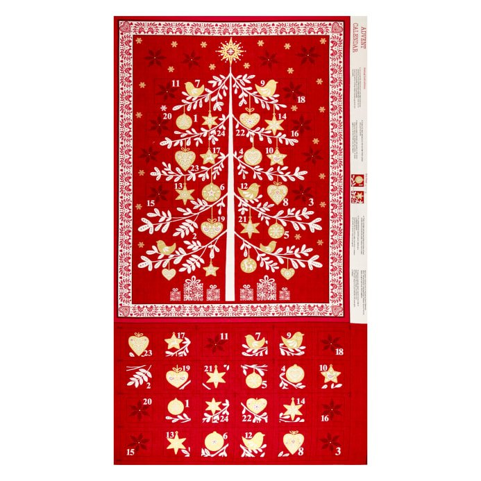 Scandi Advent Calendar Panel Red