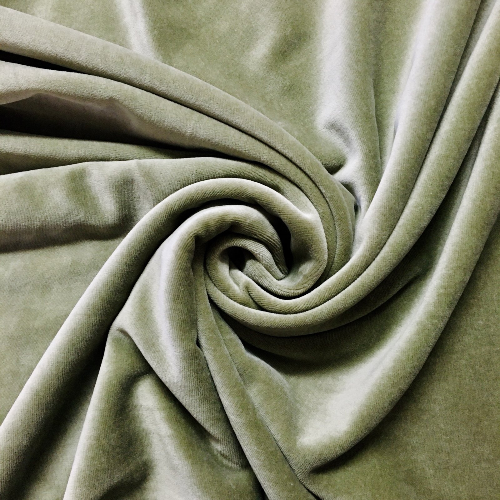 Avalana Stretch Velour in Green