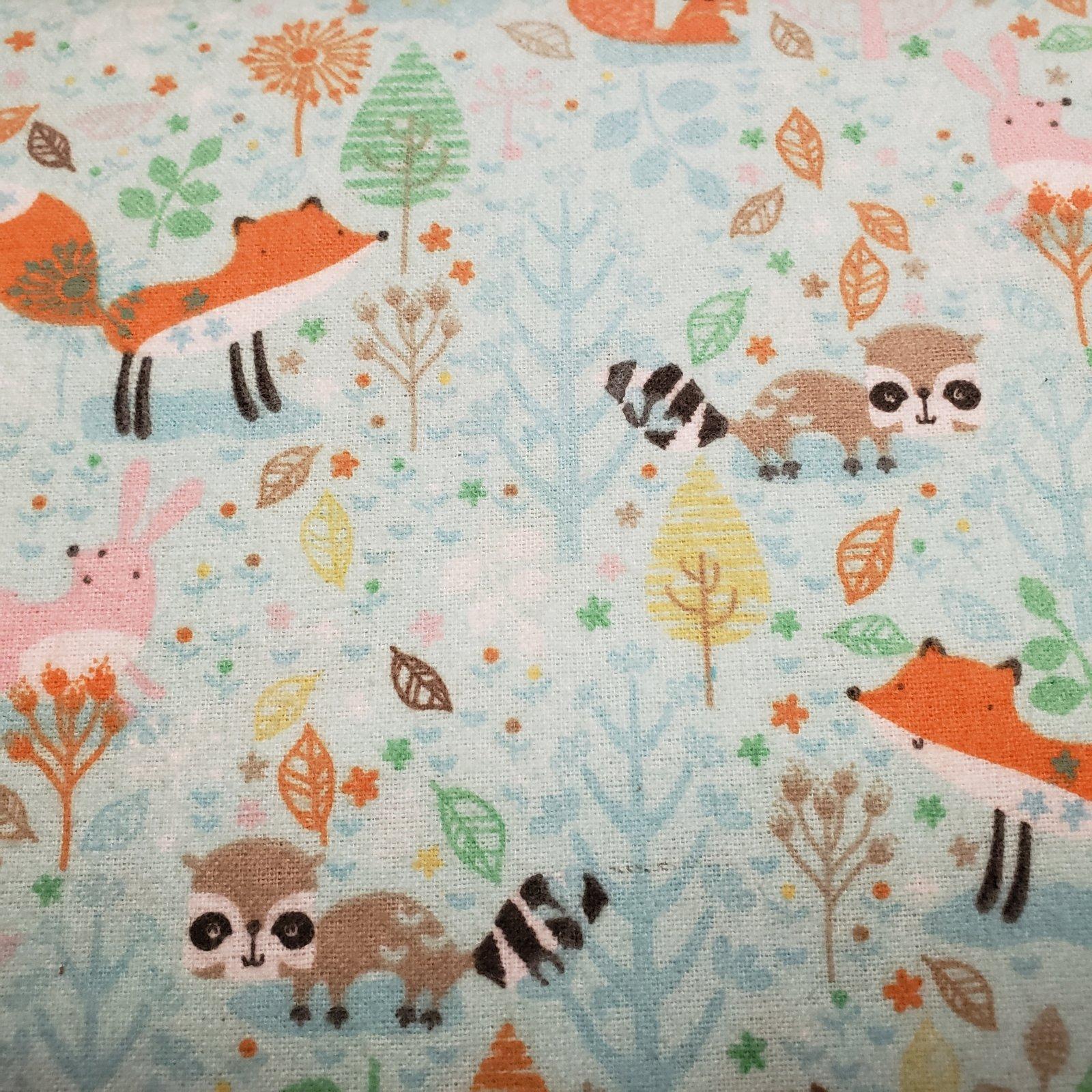 Woodland Animals Comfy Prints Flannel