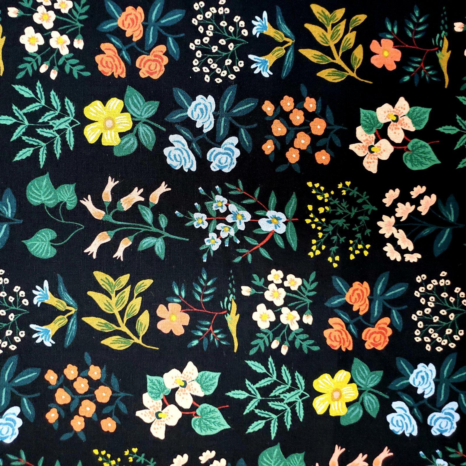 Meadow Wildflower Field Black Canvas Rifle Paper Co.