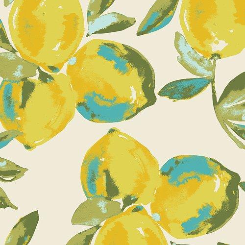 Art Gallery Fabrics Yuma Lemons Mist Canvas