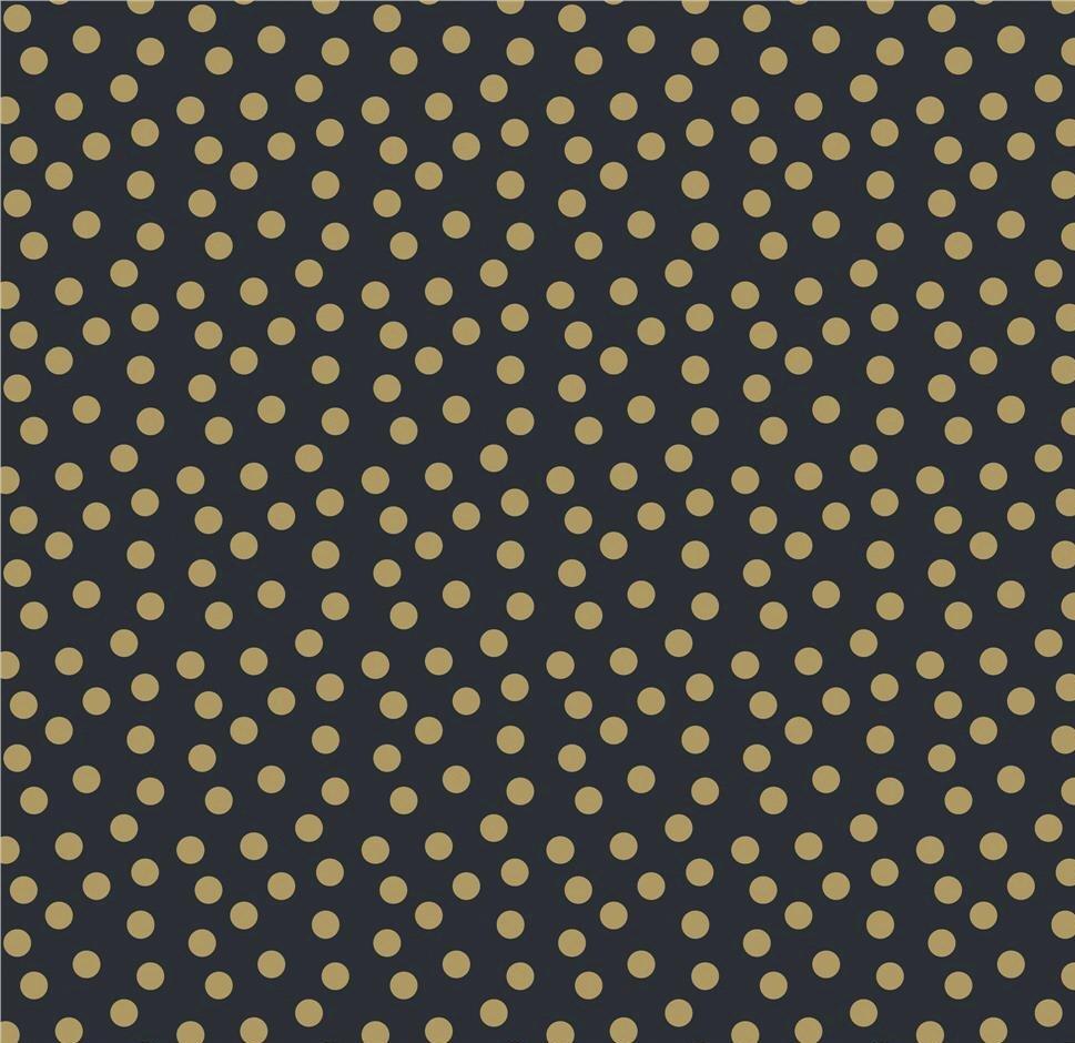 Gold Dot Riley Blake A Little Bit of Sparkle Black Gold Metallic