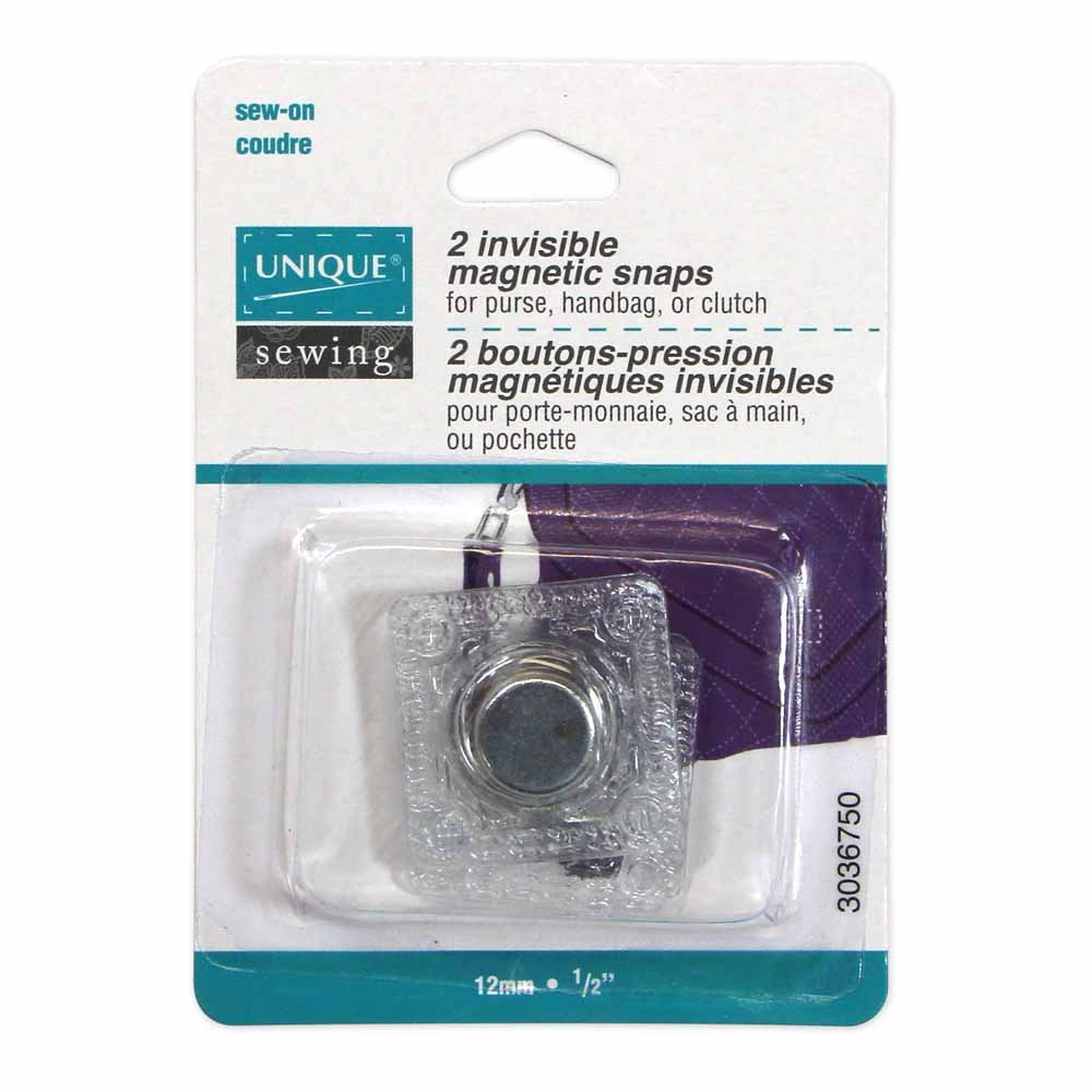 Pack of 2 Unique Invisible Sew-In Magnetic Snaps, 1/2