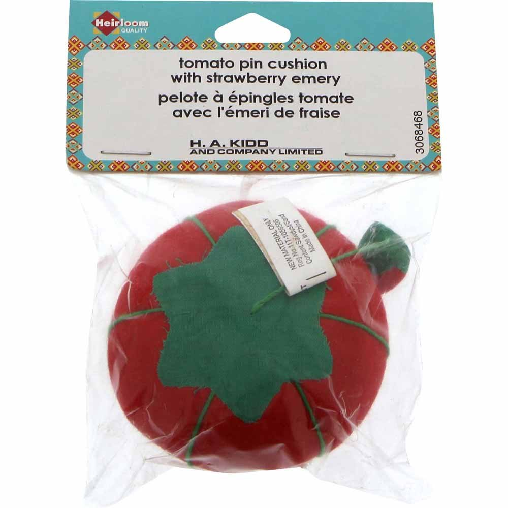 Heirloom Tomato Pin Cushion With Strawberry Emery