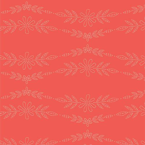 Art Gallery Fabrics Merriweather Embroidered Garland Peony