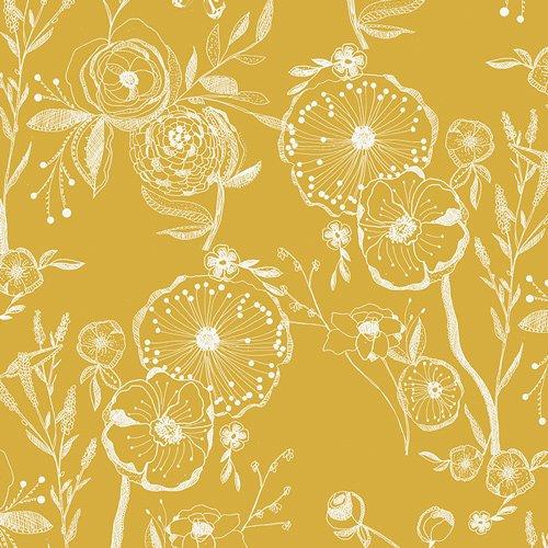 Art Gallery Fabrics Line Drawings Canvas