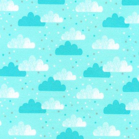 Aqua Cloud Flannel