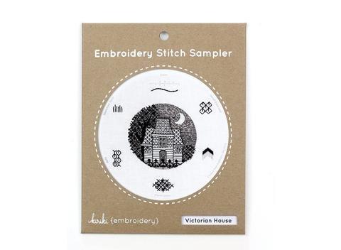 Kiriki Embroidery Stitch Sampler - Victorian House