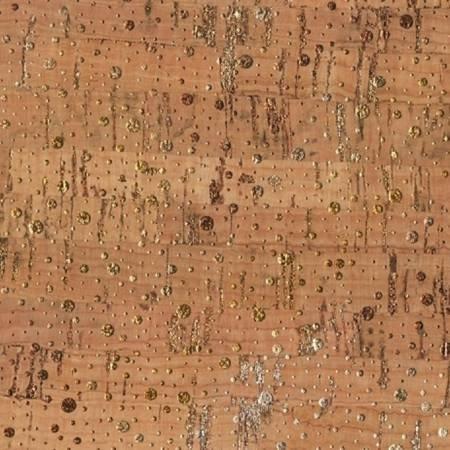 Shimmer Dot Real Cork Fabric w/Metallic