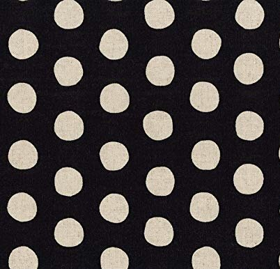 Robert Kaufman 9.8oz Canvas Black Dots