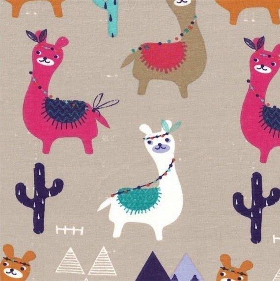 Stof Knit-Guanaco Llamas