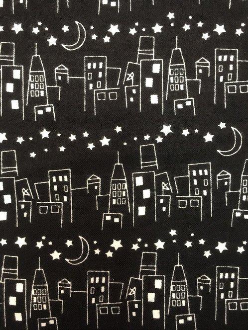 Cityscape Flannel Black