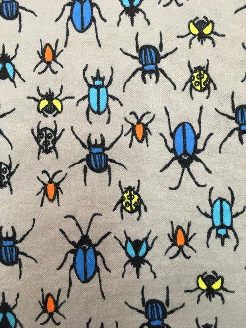 Bugs Flannel Grey