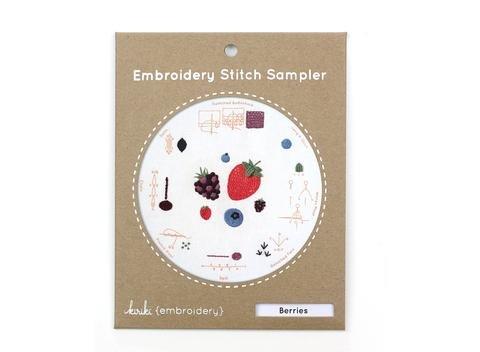 Kiriki Embroidery Stitch Sampler - Berries