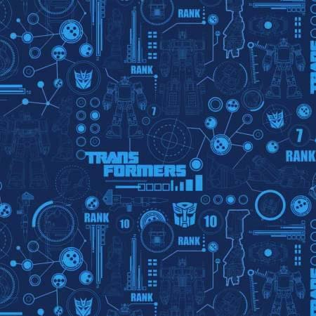 Camelot Transformers Blueprint in Blue