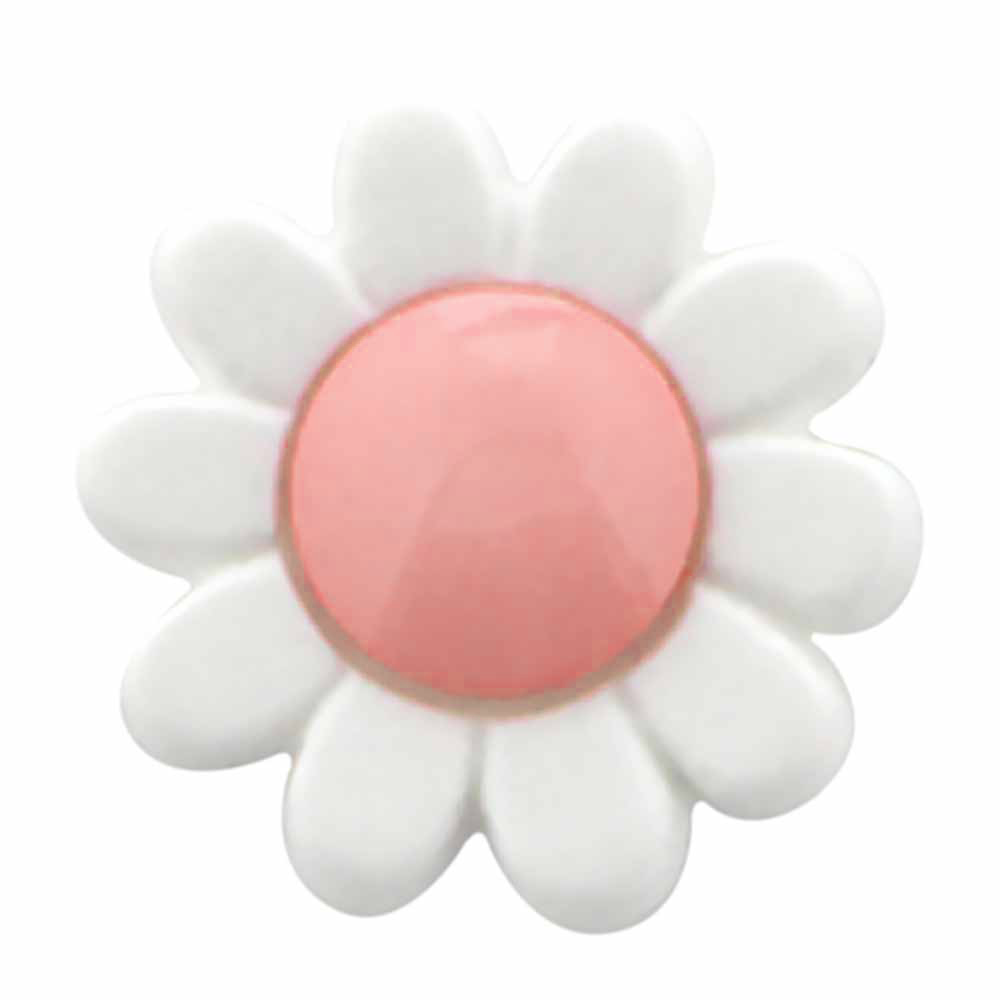 Cirque Flower Shank Buttons - 15mm (9/16in) - 3 Count - Multiple Colour Options!