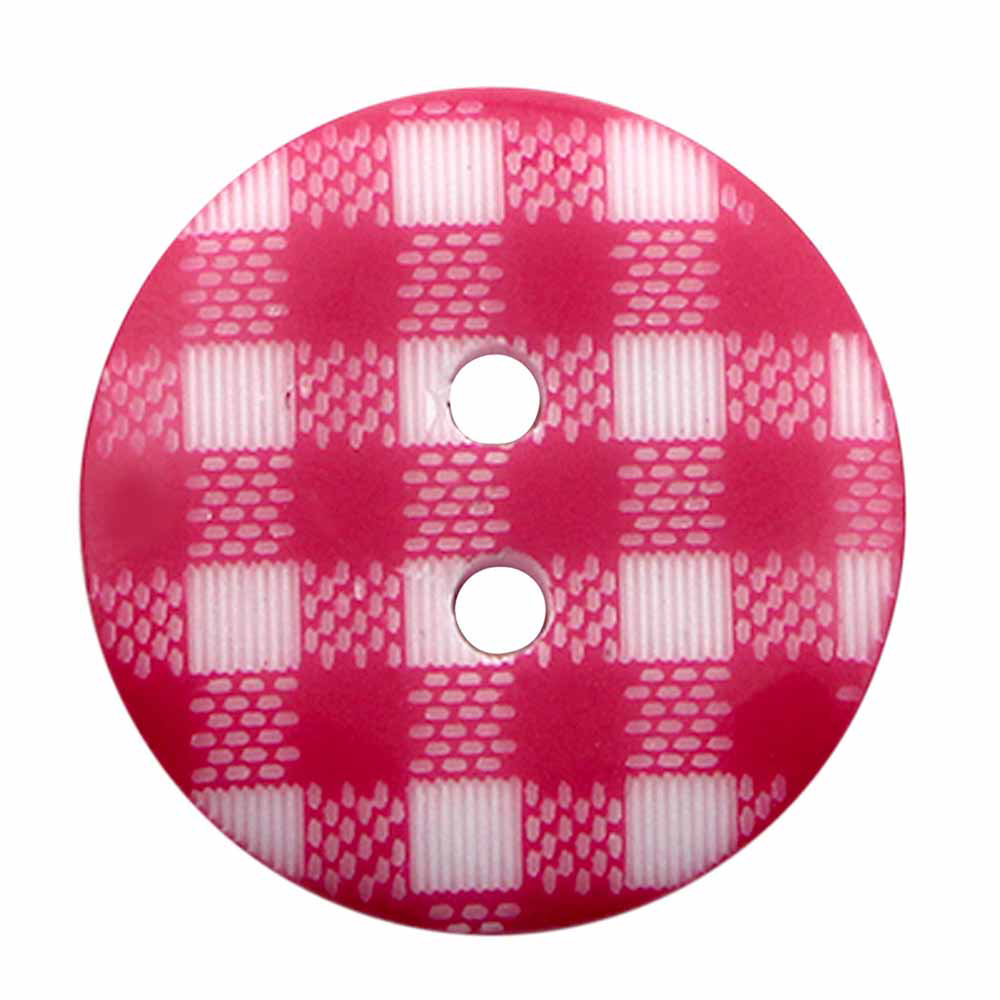 Cirque 2 Hole Gingham Buttons - 20mm (3/4in) - 2 Count - Multiple Colour Options!