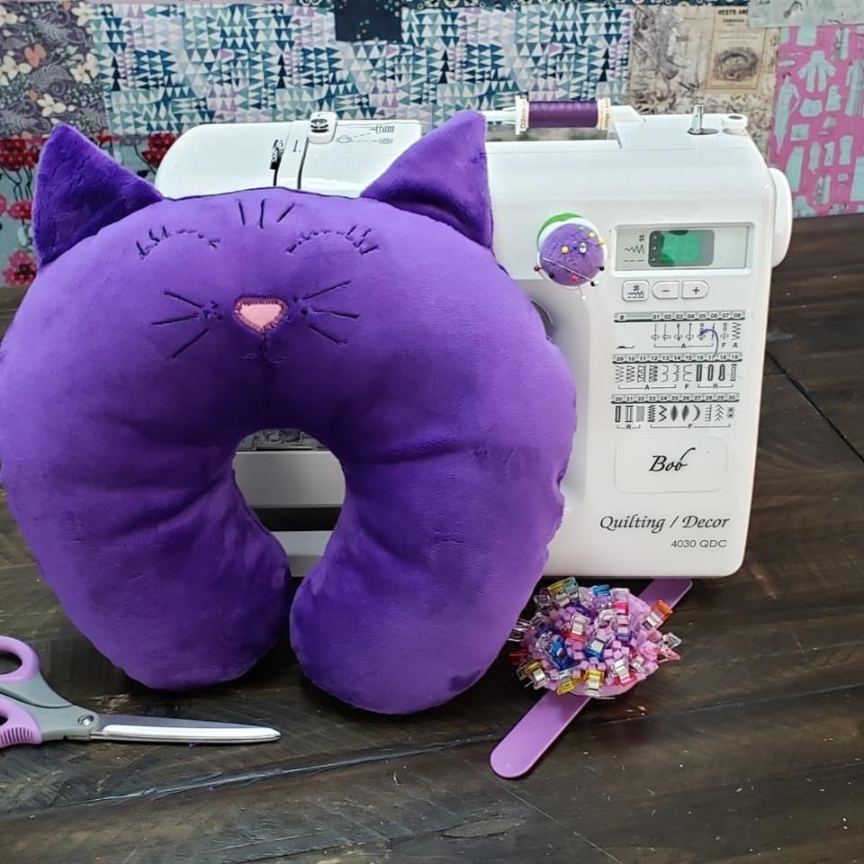 Cuddly Cat Travel Pillow Sewing Kit and Video Tutorial (Kid Friendly!)