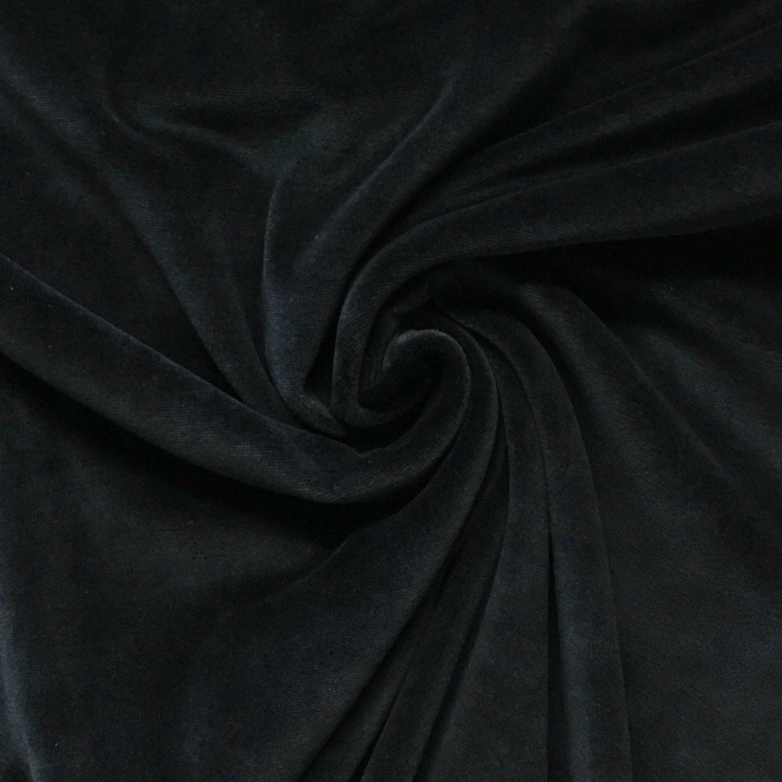 Avalana Stretch Velour in Black