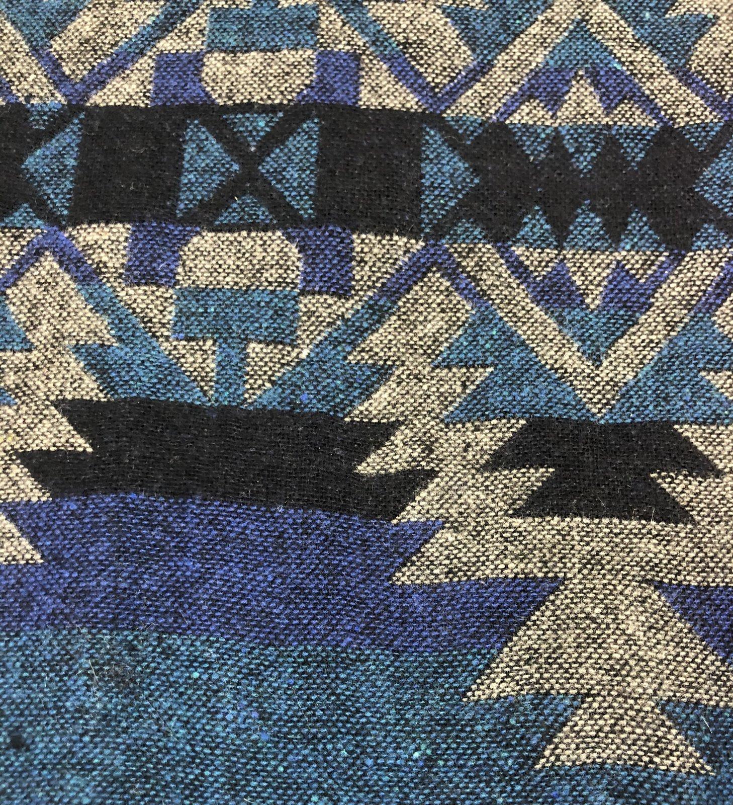 Siltex Wool Blend Jacquard Blue/Teal/Grey