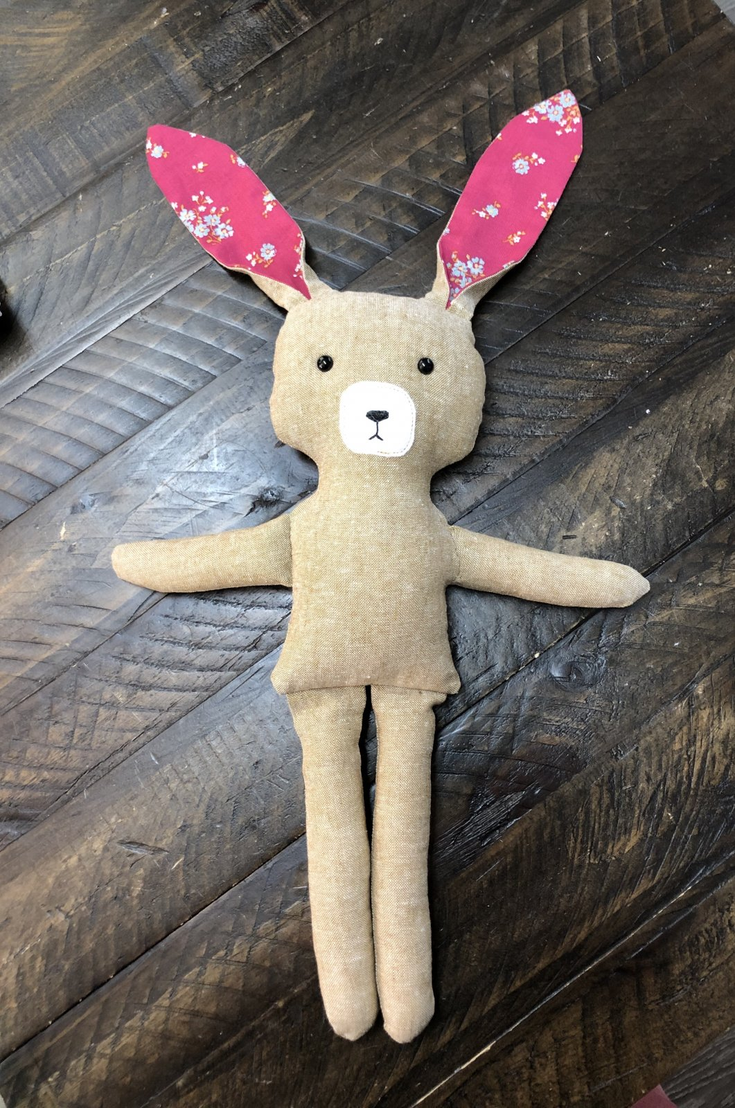 Bunny Sewing Kit and Video Tutorial (Kid Friendly!)