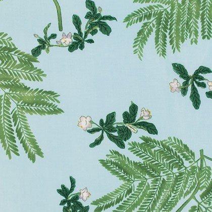 Honeysuckle Bloom- Rayon Sky Blue