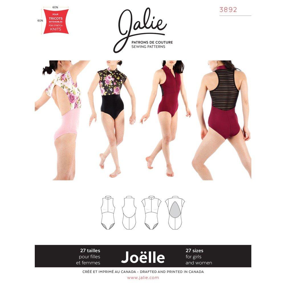 Jalie Pattern 3892 Joelle Half-Zip Leotards