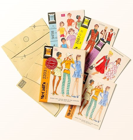 Vintage McCall's Pattern Notecards - Four Styles, Envelopes Included
