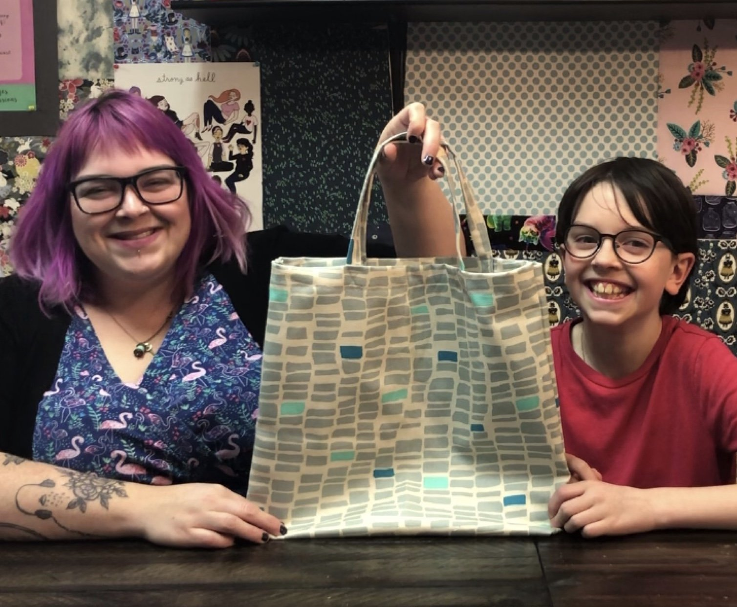 Simple Canvas Tote Sewing Kit and Video Tutorial (Kid Friendly!)