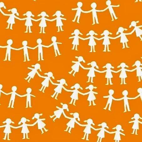Kinder - Paper Dolls Orange