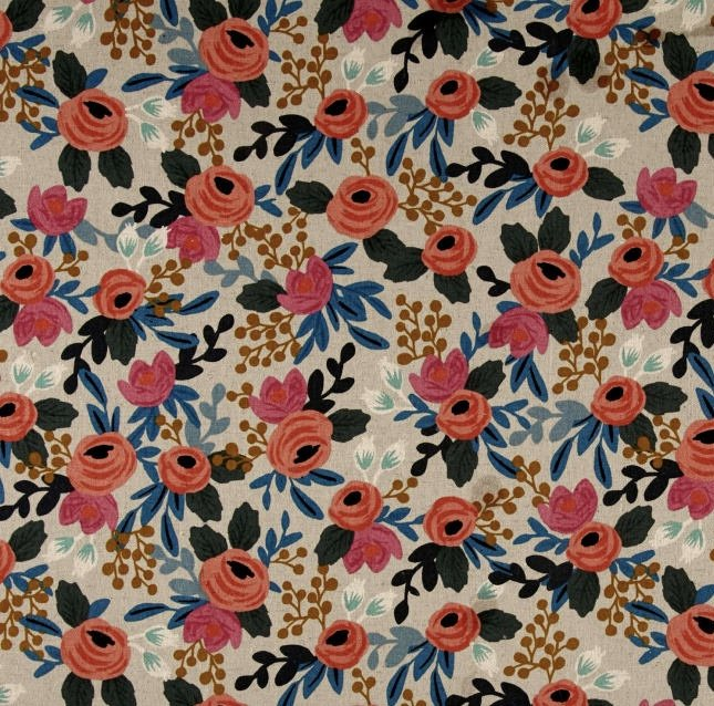 Menagerie Rosa Natural by Rifle Paper Co Canvas