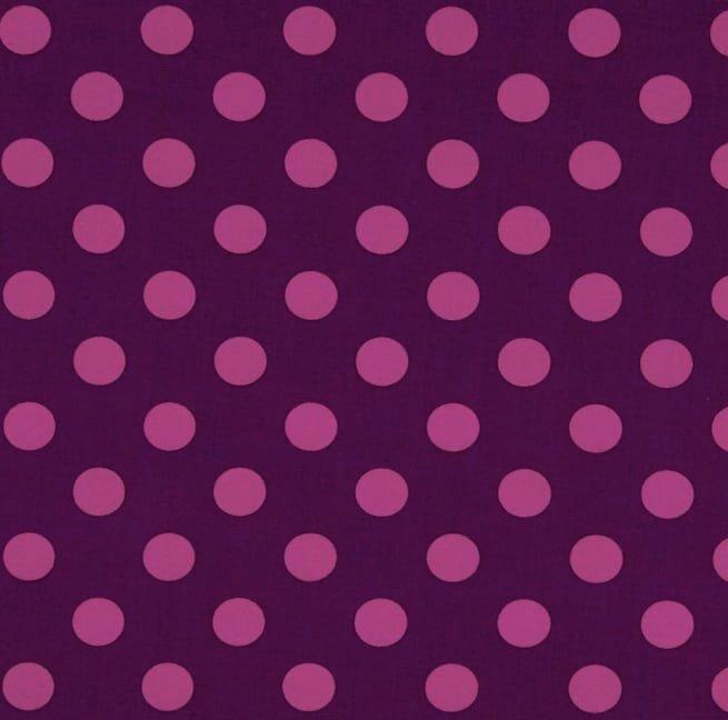 Tula Pink - ALL STARS - Pom Poms - Foxglove