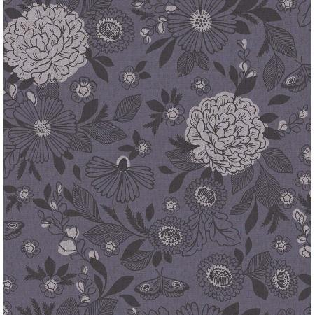 Cotton + Steel Earth Magic Canvas - It's Cool to Be Kind in Amethyst Shadow