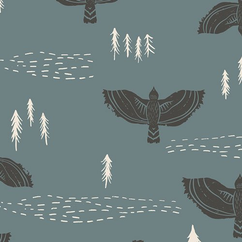Wind Observer Slate Canvas Art Gallery Fabrics