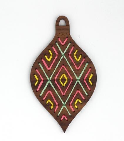 Kiriki D.I.Y. Stitched Ornament Kit - Geometric