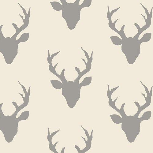 Art Gallery Knit- Bucks in Grey and Cream